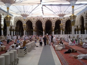 Inside Masjid-an Nabawi