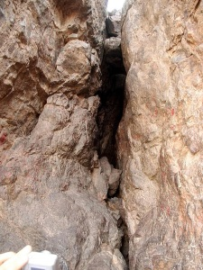 Close-up of Cave of Uhud