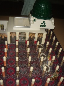 A model of the Rawdah-tul Jannah inside Masjid-an Nabawi
