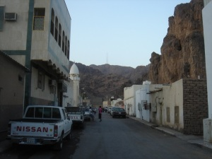 The neighbourhood at the base of Mount Uhud