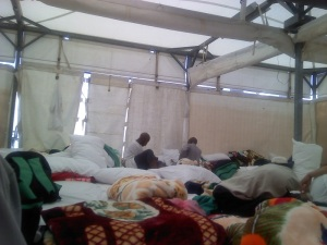 Inside our tent in Mina - Hajj 2011