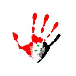 Syria hand flag
