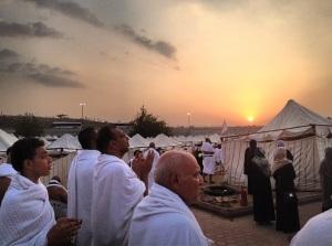 Sunset on Arafah - Hajj 2012 (Picture courtesy of Shaykh Muhammad Al-Shareef)
