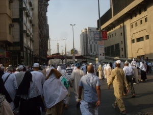 The walk from our hotelto the masjid - down Ajyad Street