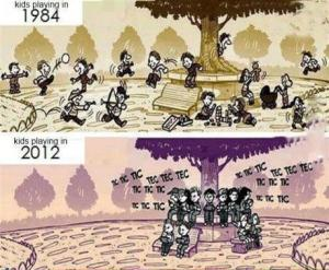 Kids playing in 1984 vs 2012
