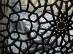 View through a grill in the haram - Makkah