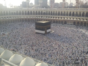 Jam-packed tawaaf during Hajj season 2011