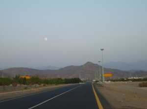 The road leaving Arafah