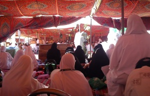 Awaiting wuqoof in the tent on the morning of Arafah