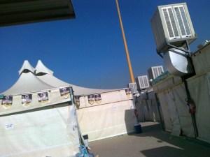 Inside a camp at Mina