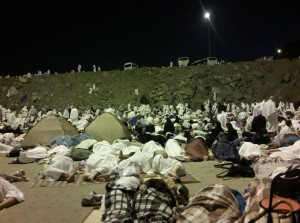 Night-time at Muzdalifah