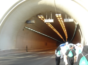 The tunnel leading to Mina