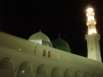 The famous green dome at Masjid-an-Nabawi - under which lies the grave of the Prophet Muhammad s.a.w.