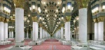 Another view of the inside of Masjid-an-Nabawi