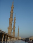 The rooftop of Masjid-an-Nabawi