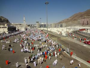Mina during Hajj 2011