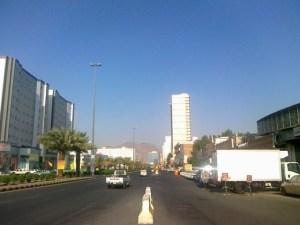 The main street in Aziziah