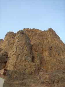 Cave of Uhud from base of mountain