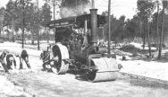 1920s: steamroller in Pinelands