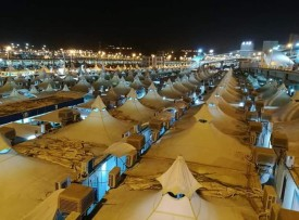 Tents on Mina - the main camp site of Hajj