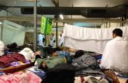 Inside a tent on Mina