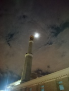 Minaret by moonlight