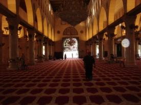 Inside Masjid Al Qibli (a.k.a. Al Aqsa)