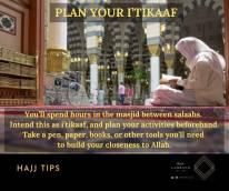 Plan your i'tikaaf