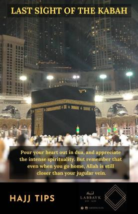 Last sight of the Kabah