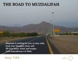 The road to Muzdalifah