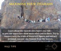 Maximise your ziyarahs