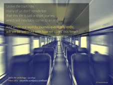 "From the poem ""Train of Thought"""